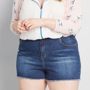 MODCLOTH Come Cheerfully Denim Shorts